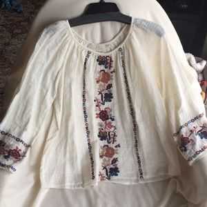 Love Sam Embroidered Cotton Top New!